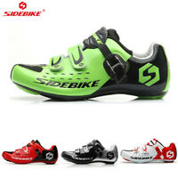 SIDEBIKE Men's Road Cycling Shoes Sports Bicycle shoes sneakers for Shimano SPD