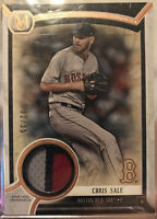 2018 Topps Museum Collection Chris Sale Meaningful Material 3-Color Patch 32/35
