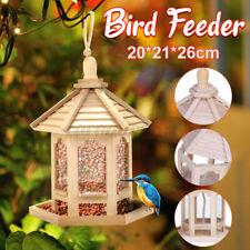 Outdoor Wooden Hanging Wild Bird Feeder Food House Pet Squirrel Rainproof