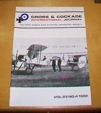 CROSS & COCKADE GREAT BRITAIN JOURNAL VOL 23 No 4 1992 1912 MANOEUVRES 2 SQN