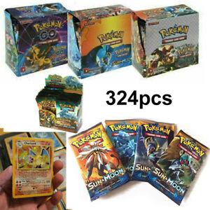 Pokemon 324 Stück GX TCG Booster Box EVOLUTIONS Kunst-Sammelkarten-Geschenk DE