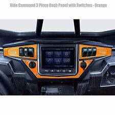 Ride Command GPS Dash Panel Switch Plate Combo Polaris RZR Turbo Orange Madness