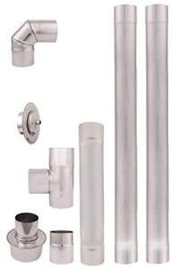 Stainless Steel Set Pellet exhaust pipe 80mm Heat-resistant single wall flue