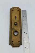 Vtg Antique Door Lock Brass Escutcheon Back Plate Russwin Madison 950 Door Bell