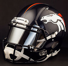 ***CUSTOM*** DENVER BRONCOS Full Size NFL Riddell SPEED Football Helmet