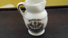 CRESTED CHINA  MINIATURE SHAPED JUG CRESTED SOUTHPORT  NO MAKER