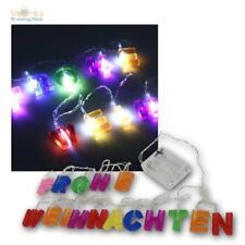 LED Lichterkette Weihnachtsdeko Fensterdeko Fensterschmuck farbiger Schriftzug