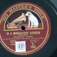 "78rpm 12"" REGINALD FOORT in a monastery garden / in a persian market"