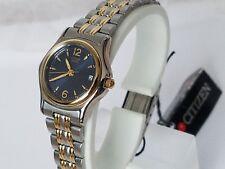 Citizen Two Tone Gold Bezel Blue Dial Women's Watch EU0524-59L