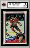 1984-85 O-Pee-Chee #259 Chris Chelios RC Graded 9.0 Mint (052619-93)