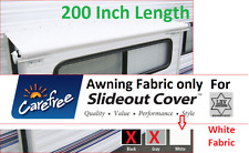 White Carefree Awning Fabric; 200 Inch Length; Slide Out Fabric Replacement;