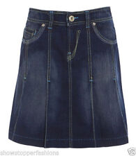 Knee Length Denim A-line Skirts for Women
