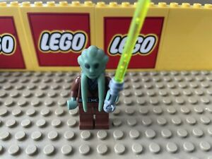 LEGO Kit Fisto Minifigure  | Star Wars Jedi | SW0163 with Lightsaber