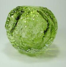 INGRID GLAS VINTAGE 70er Jahre KURT WOKAN Vase Borkenglas textured bark TOP!!