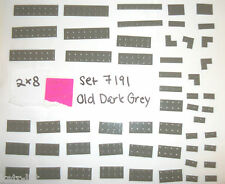 LEGO set 7191 OLD DARK GREY Corner 2x8 1x8 2x4 2x6 2x3 1x3 1x4 1x2 Plate 3034