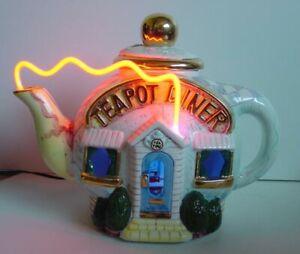 Jerry Berta Limited Edition Teapot Diner Neon Lighted Sculpture Lamp NOS NIB HTF