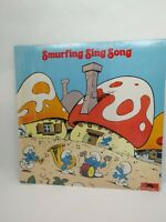 PEYO THE SMURF SMURFING SING SONG RECORD LP ALBUM VINTAGE  ARI-1018  1980