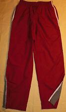 Vtg Champion Brand Athletic Windbreaker Pants Red Mesh Liner Gray Stripes Mens L