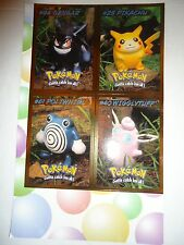 Pokemon Video Charcters Uncut Card Sheet