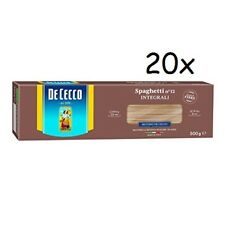 20x Pasta De Cecco spaghetti integrali n. 12 Vollkorn italienisch Nudeln 500 g