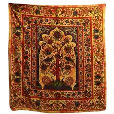 Tagesdecke Weltenbaum orange 235x215cm indische Decke Couch Bettüberwurf Tie Dye