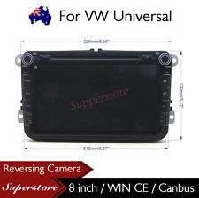 "8"" Car Radio DVD Player Nav GPS For Volkswagen Golf GTI Wagon VW Universal"