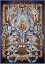 """Impresionante Muy Raro De Linda Ravenscroft Original """" fuerza de la vida """" Dragón Hada Pintura"""