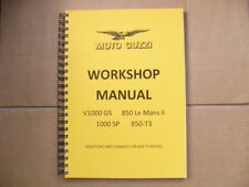 MOTO GUZZI 850/1000. T3,1000SP,LE MANS Mk11, V1000 G5, FACTORY WORKSHOP MANUAL