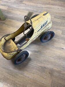Vintage Kids Child's HOT ROD Pedal Car Original Condition For Restoration