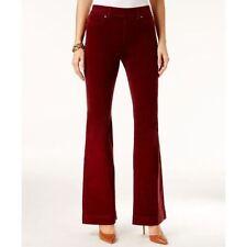 NEW(J122) INC International Corduroy Flare-Leg Pull-On Pants Red Shadow Sz 8 $80