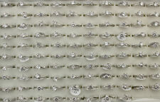 Fashion Cubic Zirconia Lady's Rings Wholesale Jewelry Lots 32pcs Mixed Clear