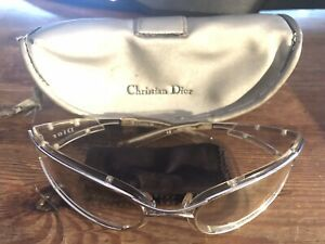 Vintage CD ....Clear Wrap Around Glasses With Original Case