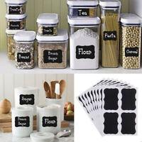 NEW 36x Chalkboard Blackboard Chalk Board Stickers Craft Kitchen Jar Labels Tags