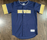 Milwaukee Brewers MLB Baseball #8 Ryan Braun Jersey Blue Mens Sz Medium Majestic