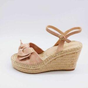 Kate Spade New York Womens Fanni Espadrille Sandals Pink Wedge Heels 10 M New