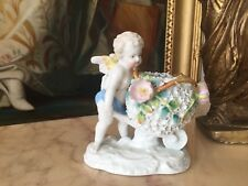 ANTIQUE MOORE BRO. STYLE  PUTTI PORCELAIN FIGURINE H 13 CM