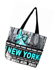 2f71b3975d2e Robin Ruth Statue of Liberty NY Skyline Canvas Tote Shoulder Small Bag
