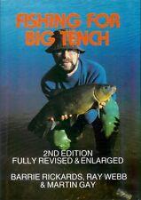 RICKARDS COARSE ANGLING BOOK FISHING FOR BIG TENCH 2nd EDITION hardback BARGAIN