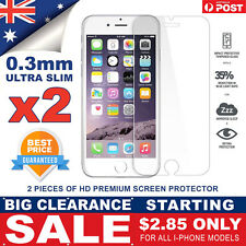 2 X Anti Scratch Tempered Glass Screen Protector Guard For iPhone X 8 7 6 5 Plus