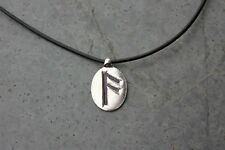 Harmony & Wisdom Rune Leather Necklace- Letter A- Truth, Love, Communication