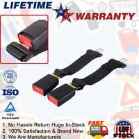 "Universal Car Seat Seatbelt Safety Belt Clip Extender Extension 7/8"" Buckle (2X)"