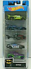 Hot Wheels BATMAN 5 Pack Killer Croc/Joker/Batmobile/Batcopter/Gotham PD