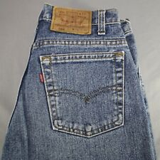 Levis 560 Size 30 x 31 Hemmed Mens Blue Jeans Loose Fit Tapered Leg USA Made
