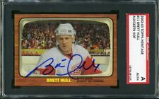 2002-03 Topps Heritage #11 BRETT HULL Auto/Autograph SGC Detroit Red Wings