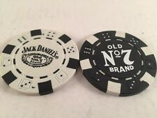 2 Pallina Da Golf Marcatori Marker JACK DANIEL'S POKER CHIPS BIANCO NERO Merchandise