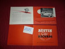 N°4525 / AUSTIN  : catalogue english text  RECORDS and other post-war achievemen