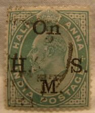 India Stamp 1902 Scott O38 A33  Overprint Half Anna