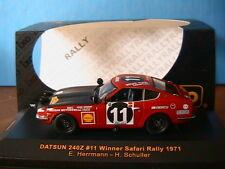 DATSUN 240Z #11 WINNER SAFARI RALLY 1971 HERRMANN SCHULLER IXO MODEL RAC044 1/43
