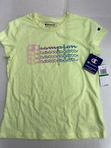 New! Champion girls T-shirt neon yellow size youth L