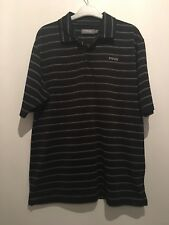 SIZE S PING BLACK/WHITE STRIPE POLO TOP SUMMER/WINTER/SPORT/GYM/FOOTBALL/GOLF